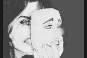 donna-maschera-soffre-piange